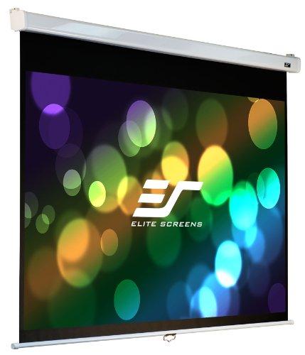 Elite Screens 100 Inch 16:9 Manual Pro Slow Retract Projector Screen (49″Hx87″W)