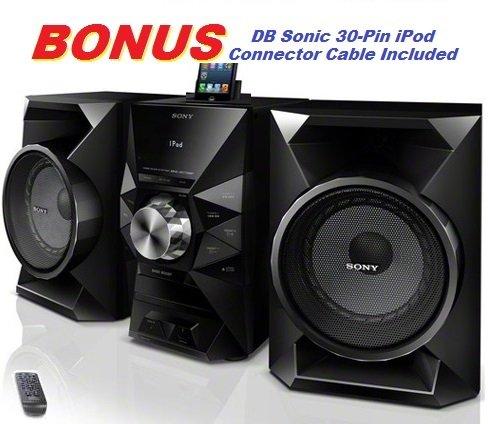 Sony 470 Watt Powerful Hi-Fi Stereo Sound System with MP3 CD Player, AM & FM Radio, 30 Preset Statio