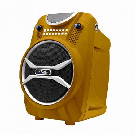 Pyle Boom Rock PWMAB210BZ Bluetooth Karaoke Speaker Recording System, Rechargeable Battery, Wireless