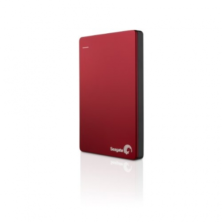 Seagate Backup Plus Slim 2TB Portable External Hard Drive with Mobile Device Backup USB 3.0 (Red) ST