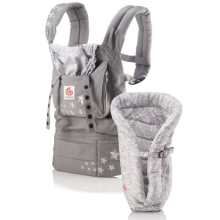 ERGO Baby Carrier Bundle of Joy – Original Galaxy Grey with Galaxy Grey Insert