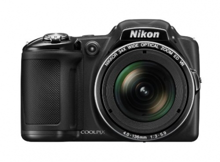 Nikon COOLPIX L830 16 MP CMOS Digital Camera with 34x Zoom NIKKOR Lens and Full 1080p HD Video (Blac