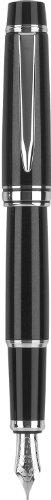Pilot Stargazer Pearl Lacquer Fountain Pen with Rhodium Accents Fine Nib, Black (60964)
