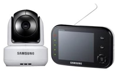 Samsung SEW-3037W Wireless Pan Tilt Video Baby Monitor, 2-Way Talk, Night Vision and Zoom Camera