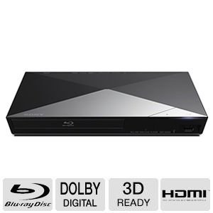 Sony 3D Blu-ray Disc Player With Full HD 1080p Resolution, Built-in 2.4 GHz Sony Super Wi-Fi, 2D/3D