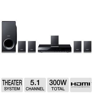 Sony 300 Watts 5.1 Channel DVD Home Theater Surround Sound Entertainment System With DVD Player, USB