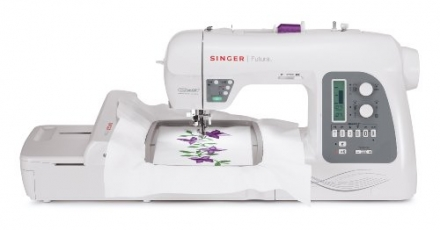 SINGER Futura XL-550 Computerized Sewing and Embroidery Machine with 18.5-by-11-Inch Multihoop Capab