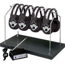 Hamilton Multi Wireless Listening Center with 6 Headphones and Headphone Rack HH/W906-MULTI
