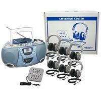 Buhl Basic Cassette / CD / AM FM Listening Center 6 Stations WNC/CD385/6SV