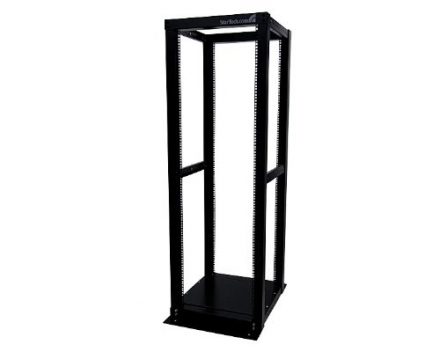 StarTech.com 36U Adjustable 4 Post Server Equipment Open Frame Rack Cabinet 4POSTRACK36 (Black)