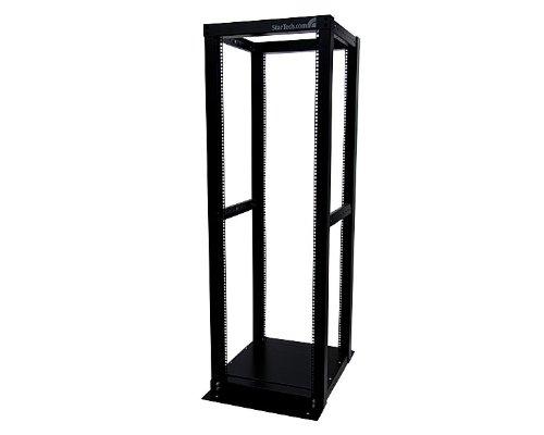 StarTech.com 36U Adjustable 4 Post Server Equipment Open Frame Rack Cabinet 4POSTRACK36 (Black)