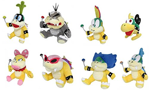 Sanei Set of 8 – Iggy, Morton, Lemmy, Mecha, Wendy, Roy, Ludwig & Larry Koopas Plush