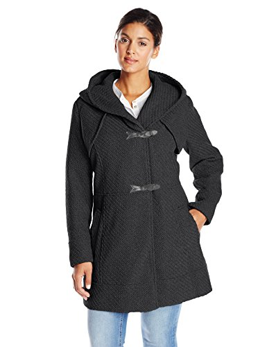 Jessica Simpson Women's Plus-Size Braided Wool Toggle Coat Plus