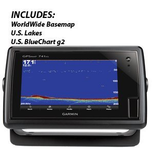 Garmin 010-01102-01 GPSMAP 741xs without Transducer Includes Worldwide Basemap, U.S. lakes and U.S.