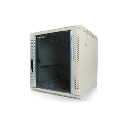 StarTech.com 12U 19-Inch Wall Mounted Server Rack Cabinet RK1219WALL (Beige)