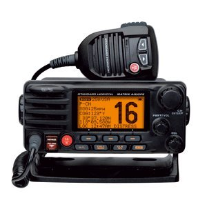 Standard Horizon Matrix Fixed Mount VHF w/AIS & GPS – Class D DSC – 30W – Black