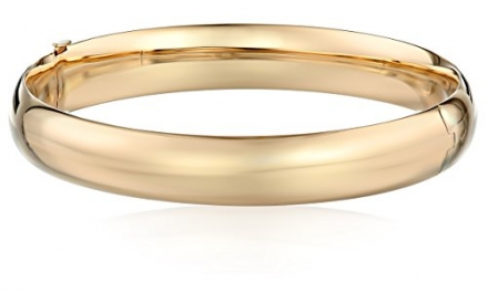 Duragold 14k Yellow Gold Polished Bangle Bracelet (10.5mm)