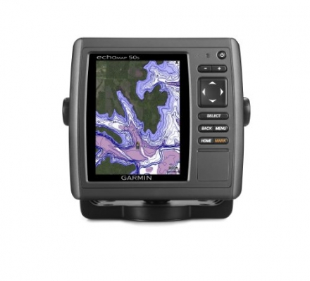 Garmin echoMAP 50s GPS with Trasom Motor Mount Transducer and Worldwide Basemap
