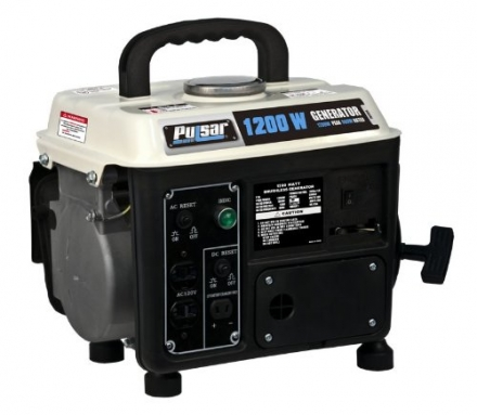 Pulsar PG1202S Gas Powered Generator, 1200-watt Ouput