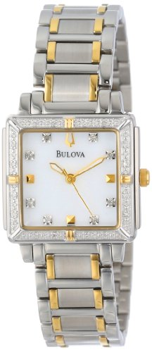 Bulova Women's 98R112 Diamond Accented Two-Tone Stainless Steel Bracelet Watch