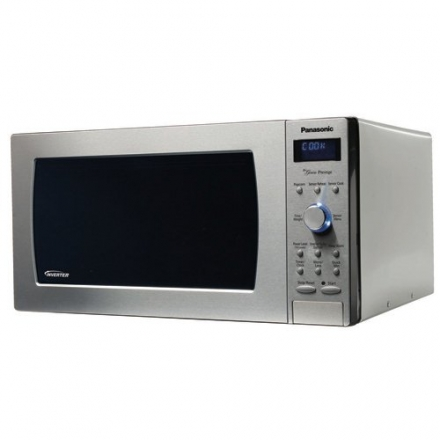 "Panasonic NN-SD797S Genius ""Prestige"" 1.6 cuft 1250-Watt Sensor Microwave with Inverter Technology &"