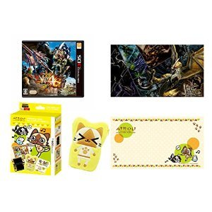 "[special Limited] Monster Hunter 4G (japan import) with AIROU ""3DS LL for accessory set and 2 sheets"