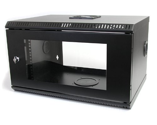 StarTech.com 6U 19-Inch Wall Mount Server Rack Cabinet with Acrylic Door RK619WALL (Black)