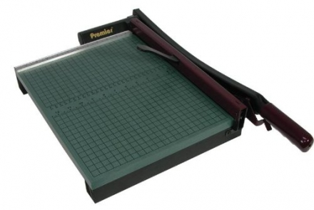 Premier StakCut Green Board Trimmer, Steel Blade, Cut Stacks of up to 30 Sheets, Green (PRE715)