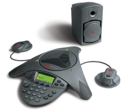 Polycom SoundStation VTX1000 with Mics and Subwoofer