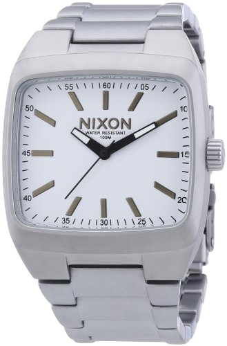 Nixon Manual Watch One Size Sanded Steel White