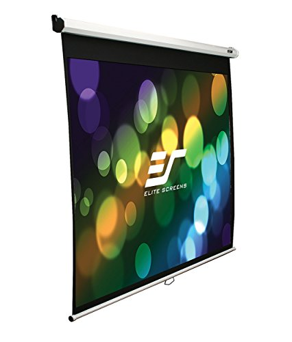 Elite Screens 100 Inch 16:9 Manual Slow Retract Projector Screen (49″Hx87″W)