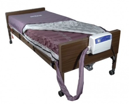 Drive Medical Med Aire Low Air Loss Mattress Replacement System with Alternating Pressure, Dark Purp