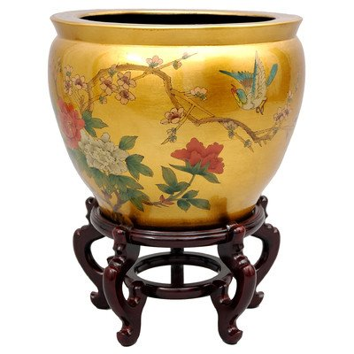 Oriental Furniture Japanese Chinese Asian Oriental Interior Design and Decor 16-Inch Ming Porcelain