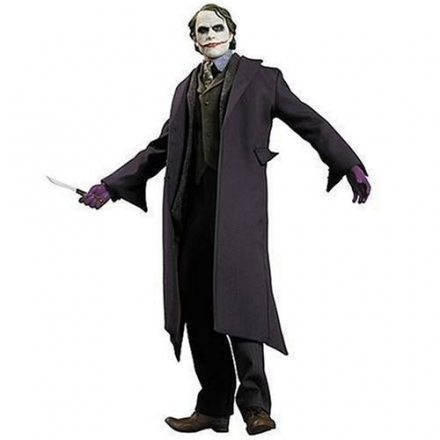 THE Dark Knight Movie 1:6 Scale JOKER HEATH LEDGER Collector Action Figure Doll by DC Direct 13 inch 1/6 – EXTREMELY RARE!!