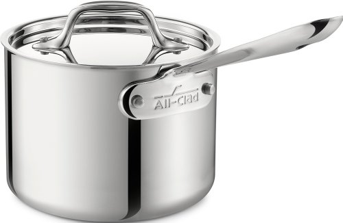 All-Clad 4202 Stainless Steel Tri-Ply Bonded Dishwasher Safe 2-Quart Sauce Pan with Lid / Cookware,