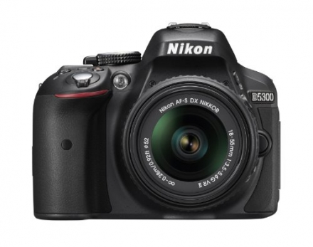 Nikon D5300 24.2 MP CMOS Digital SLR Camera with 18-55mm f/3.5-5.6G ED VR II AF-S DX NIKKOR Zoom Len