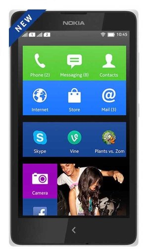 Brand New Nokia X A110 White (FACTORY UNLOCKED) 4GB , 4.0″ , 3.15MP , Dual Sim , Android