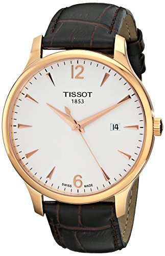 Tissot Men's TIST0636103603700 Tradition Analog Display Quartz Brown Watch