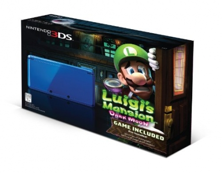 Nintendo 3DS Cobalt Blue with Luigi's Mansion: Dark Moon