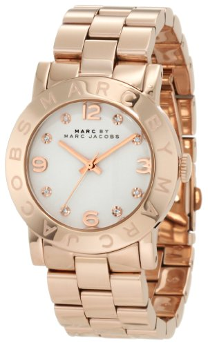 Marc Jacobs White Dial Rose Gold-Tone Stainless Steel Ladies Watch MBM3077