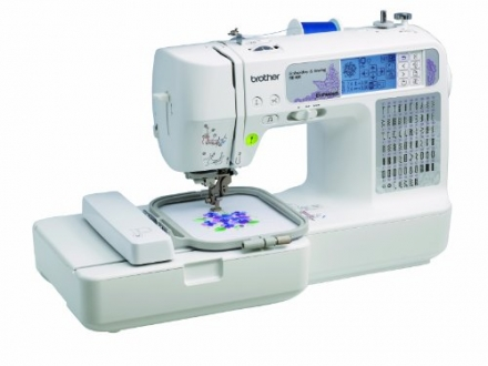 Brother SE400 Combination Computerized Sewing and 4×4 Embroidery Machine With 67 Built-in Stitches,