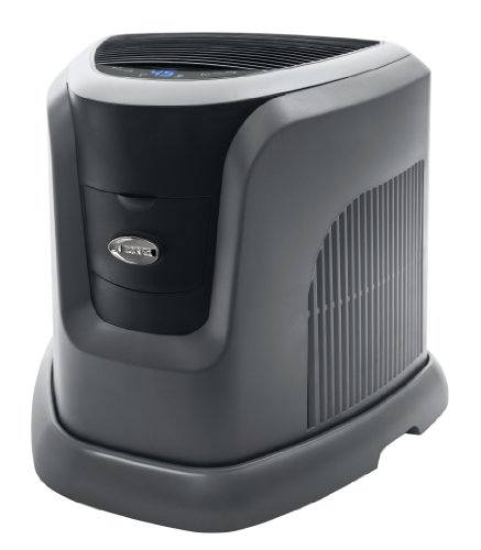 Essick Air EA1201 Digital Whole-House Console-Style Evaporative Humidifier, Mini, Silver and Black D