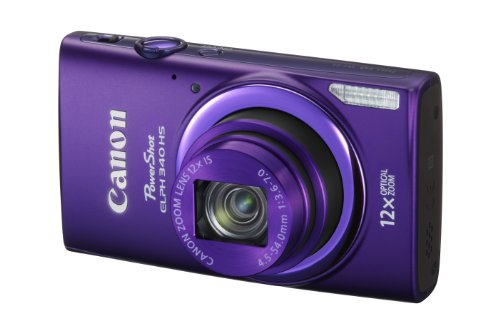 Canon PowerShot ELPH 340 HS 16MP Digital Camera (Purple)