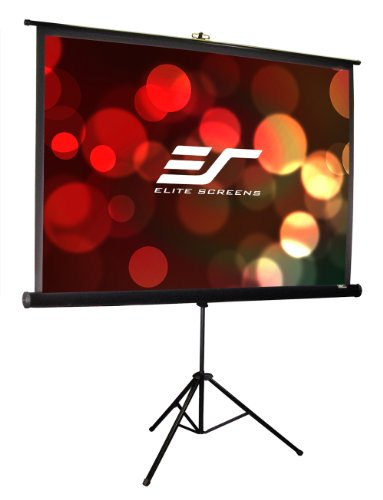 Elite Screens T113UWS1-Pro Tripod Series Portable Projection Screen (113″ Diag. 1:1 80″Hx80″W)