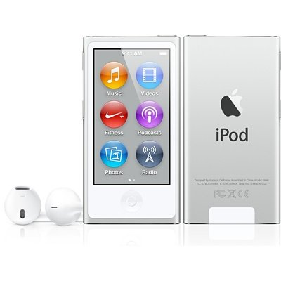 NEWEST MODEL Apple Ipod Nano 7th Generation Silver 16 GB Includes Apple Earpods and USB Cable – Non Retail Packaging