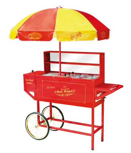 Nostalgia Electrics HDC701 Vintage Collection Carnival Hot Dog Cart & Umbrella