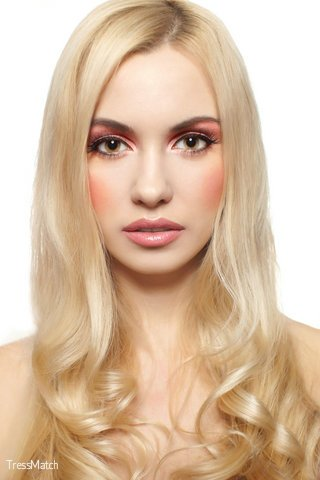 TRESSMATCH® 20″ (22″) Remy (Remi) Human Hair Clip in Extensions Light / Bleach Blonde (Color #613)
