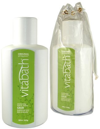 Vitabath Original Spring Green Moisturizing Bath & Shower Gelee-128 oz. (Quantity of 1)
