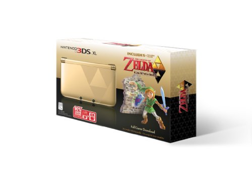 Nintendo 3DS XL Gold/Black – Limited Edition Bundle with The Legend of Zelda: A Link Between Worlds