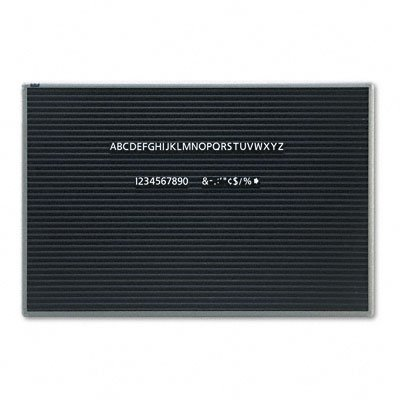 Quartet 903M Quartet Magnetic Wall Mount Letter Board, 36w x 24h, Black, Gray Aluminum Frame